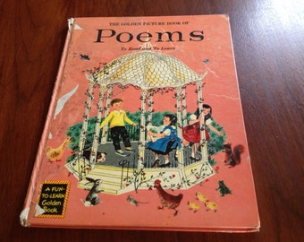 1955 Golden Picture Book of Poems vintage Childrens Books