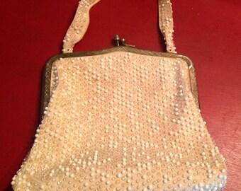 Lumured Vintage Beaded Handbag