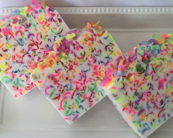 Fruit Loops Type Soap - Glycerin soap - soap for kids - Sweet soap - confetti soap