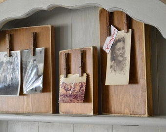 Reclaimed Wood Clipboard Picture Frames Vintage