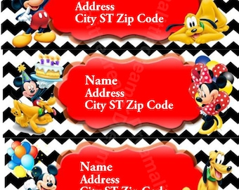 Mickey Mouse Editable Address Labels