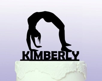Personalised Gymnastics Cake Topper