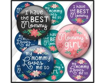 Mommy Bottle Cap Images, Mother's Day, Mommy Loves Me, Best Mom