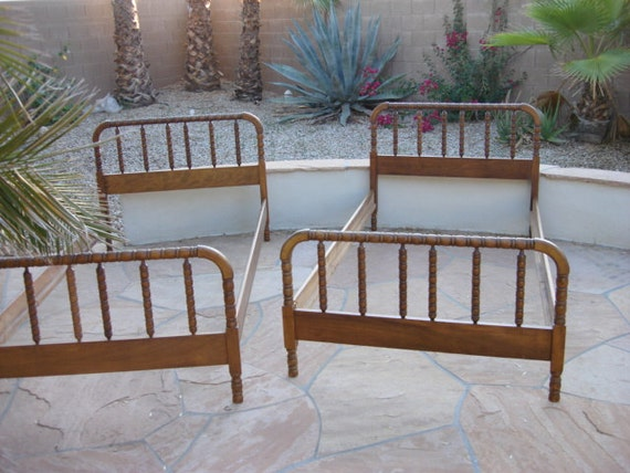 Items Similar To Vintage Set Of Jenny Lind Twin Beds On Etsy