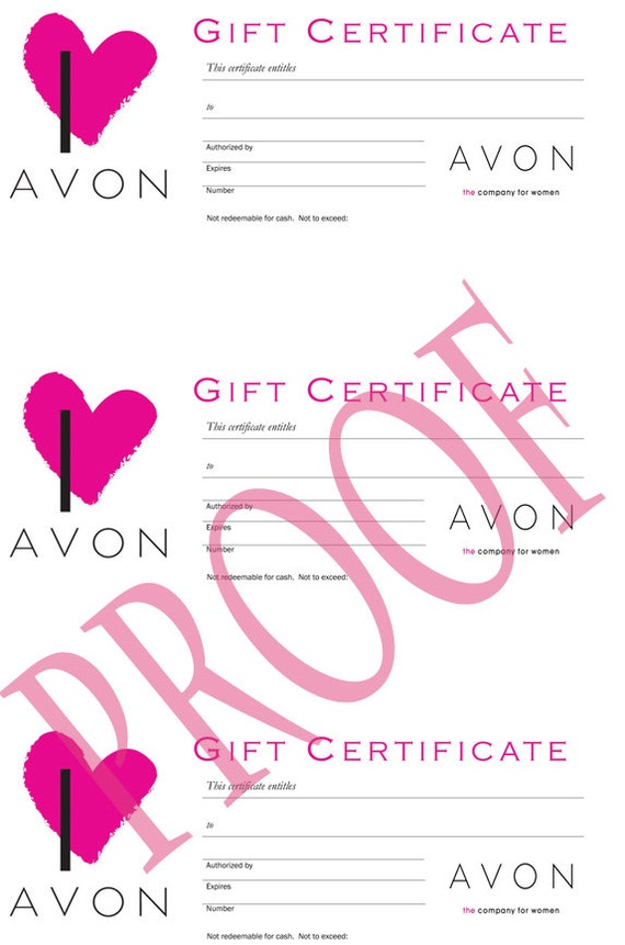 Print Your Own Gift Certificates