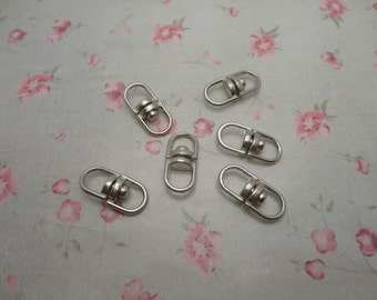 set of 100 , silver gray metal swivel key ring connector , rotatable connector key clasp , 19x8mm, CC3078-100