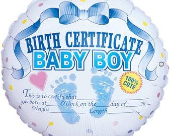 Baby Boy Balloon Bouquet, Boy Baby Shower Balloons, New Baby Boy Balloons