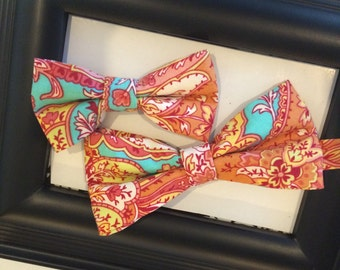 Father and Son Matching Set Cotton Bow Tie Set, Custom Bow Tie Order