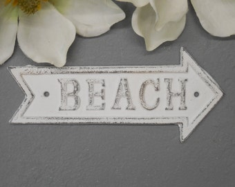 Beach Decor/Beach Sign/Pointing Beach Sign/Beach House/Beach Wall Decor/SSLID0147/Nautical Sign/Nautical Decor/Coastal Decor