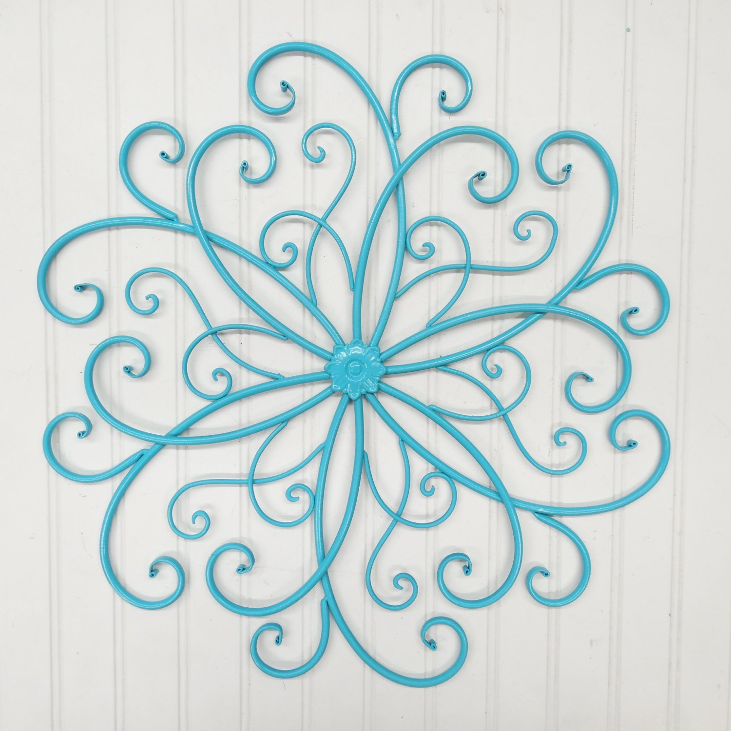 Outdoor metal wall art wall decor faux wrought iron metal wall for Outside wall art