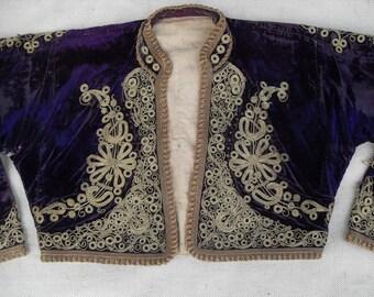 OTTOMAN  JACKET   --- 150 years old ---      (silk velvet )
