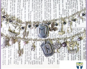 Norse Mythology Charm Bracelet (Viking, Thor, Odin, Loki) Regular or Loaded