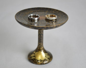 Lacquered Stand. Ring Bearer, Jewelry Stand, Ring Plate