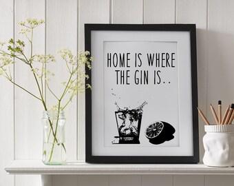 """Gin and Tonic 8""""x10"""" Print"""