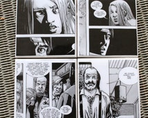 The Walking Dead Comic book coasters, black and white coaster set