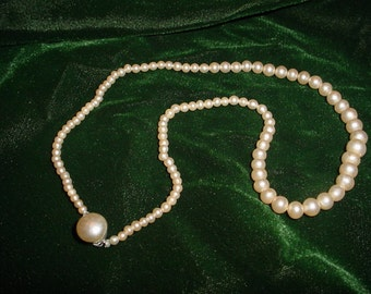 Simple Strand of Faux Pearls