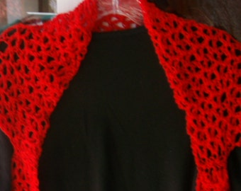 Red Cap Sleeve Shrug