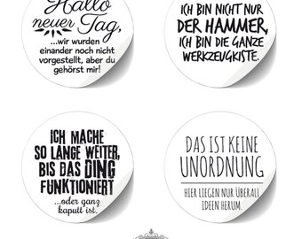 "cute as a button 8 Sticker ""TYPO - Quotes Nr. 2"""