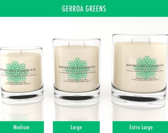 Fresh Greens Sweet Blossoms Native Woods Scented Soy Wax Glass Jar Candle