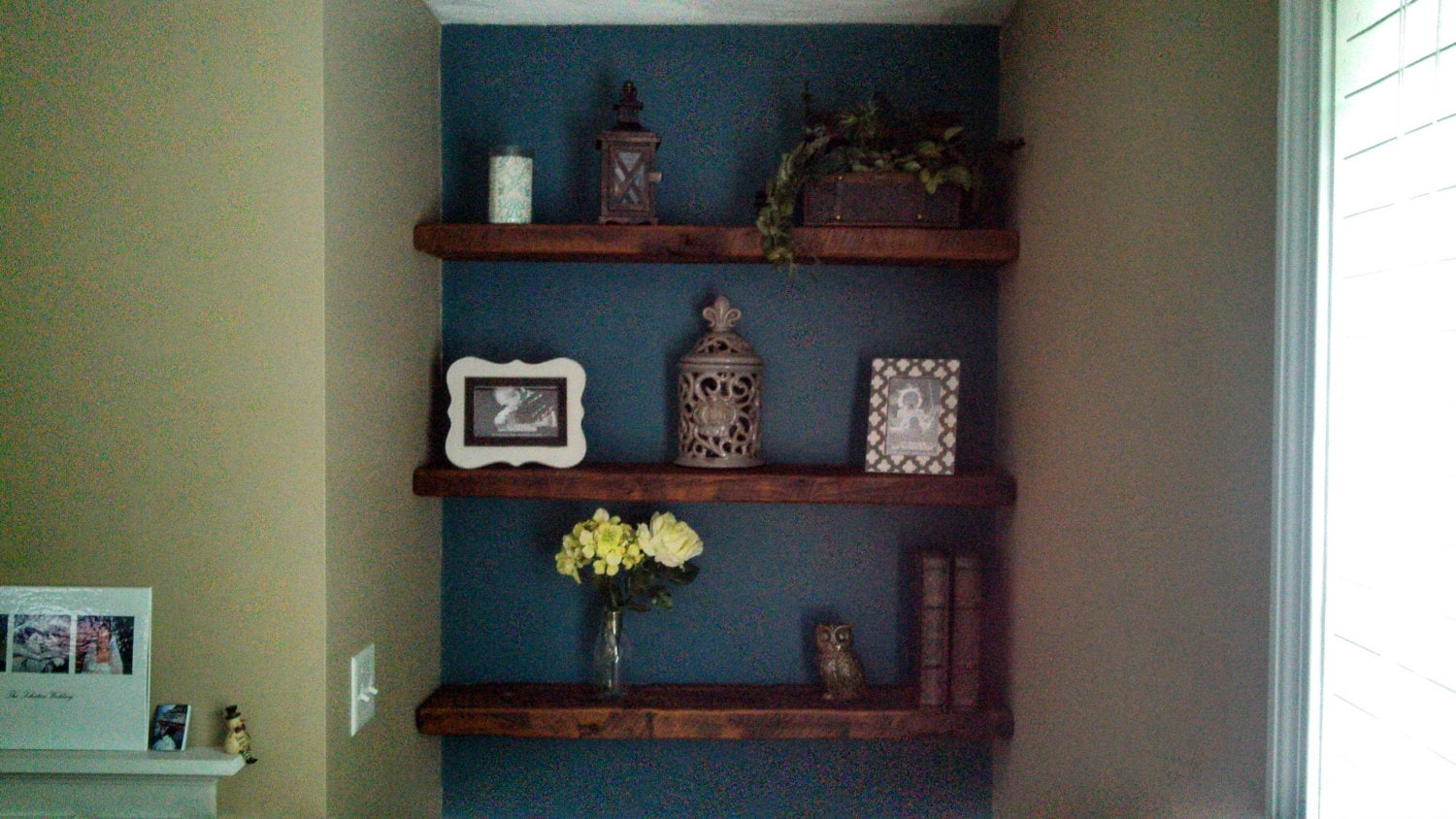 reclaimed barn wood floating shelf 40x8x2 by barnwooddesignsny. Black Bedroom Furniture Sets. Home Design Ideas