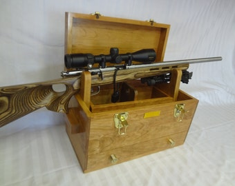 Solid Cherry Hardwood Gun Cleaning Box (Special Order)