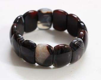 Elastic Agate Bracelet Bangle gemstone wholesale jewelry supply YHA-112
