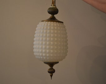 Vintage Hollywood Regency Glass Swag Lamp