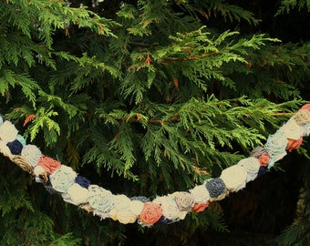 Fabric flower garland