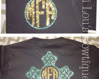 Monogram cross shirt