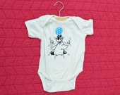 """Seal """"Balancing Ball"""" Onesie: 100% organic cotton with screenprint, embroidery and appliqué"""