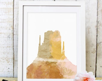 30% OFF SALE,Mountain Print,Cliff Print,Home Art,Minimalis Abstract, Watercolor Mountain,Mountain Art,Printable Art,Print,Instant Download