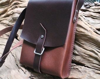 leather messenger bag,schoolbag,Tablet PC bag, laptop bag,bookbag ,handmade.