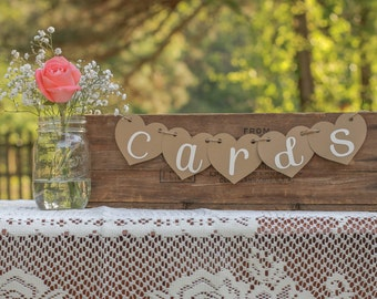 Cards Banner- Cards Sign- Rustic Wedding- Shabby Chic Wedding- Reception Sign