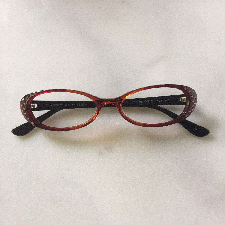 Womens rhinestone reading glasses or eyeglasses by ...