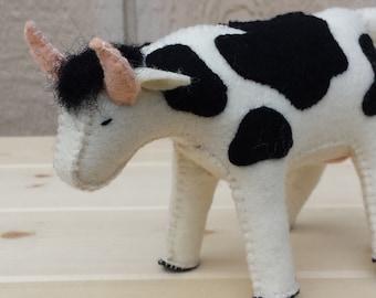 Felt Cow, Cow, OOAK
