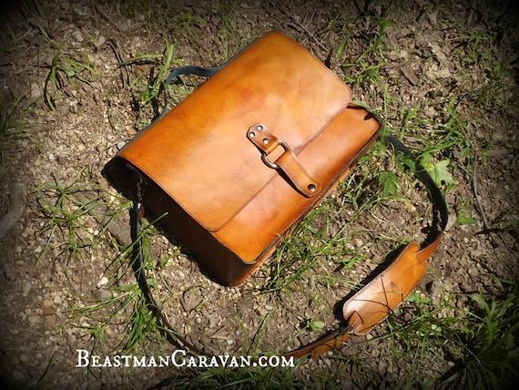 The Good Doctor - Leather Laptop Messenger Bag - Fully Custom