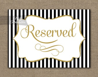Items similar to 10 Traditional Reserved Table Markers Formal ...
