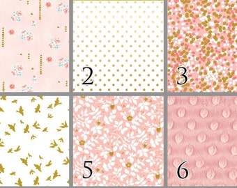 Blush Birds (Baby Bedding) Blush Pink Gold Premium Crib Bedding. Pink Baby Bedding. Toddler Bedding. Bird Bedding. Choose your Design.