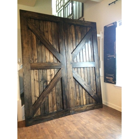 Custom Made Sliding Barn Door British Brace Design