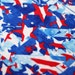 5 Yard/5 Meter Cut Stretch Fabric -  Stars and Stripes Collage Print Stretch Velvet Fabtic Item# RXPN-60063