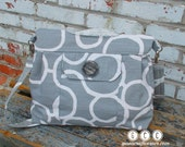 Concealed Carry Purse in gray and white, Gun Purse, Made in MO, USA