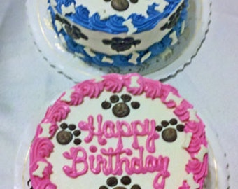 "Dog Cake 4"" ""Pink or Blue-Just For You"" Puppy Cake (Serves about 4)"