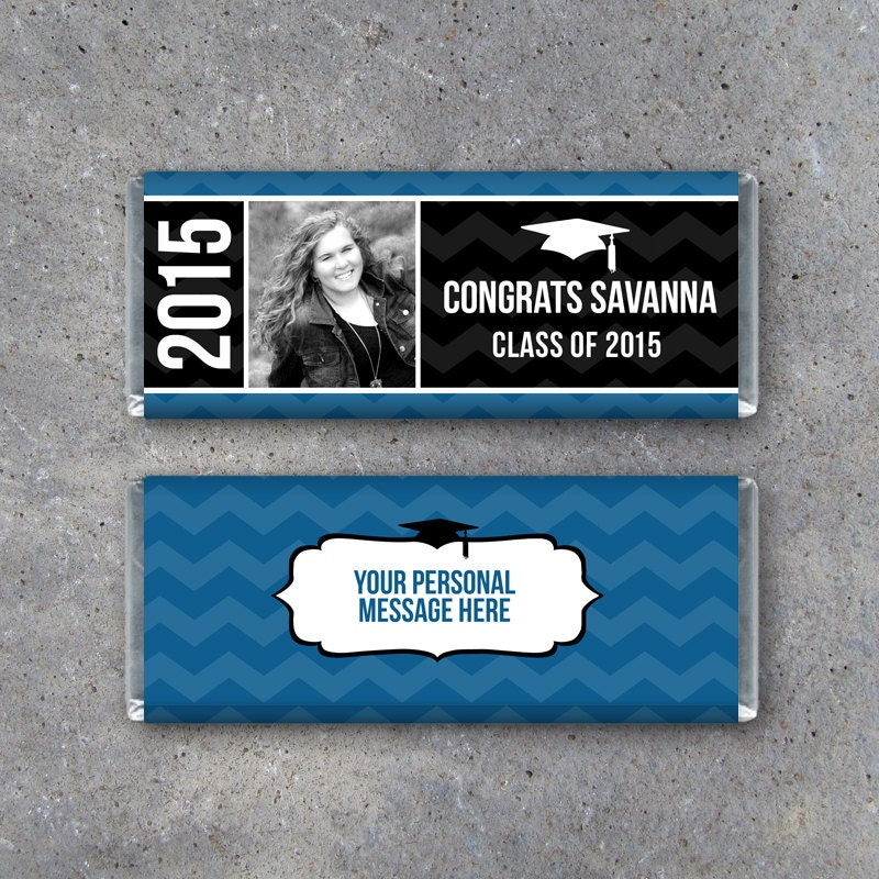 Personalized Graduation Hershey Candy Bar Wrappers Printable