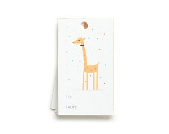 Party Giraffe Gift Tags