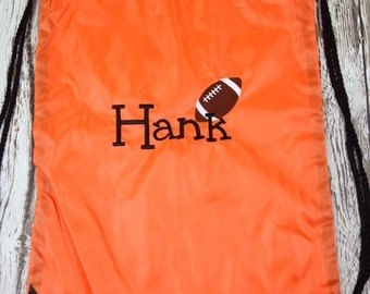 Personalized Football Cinch Bags