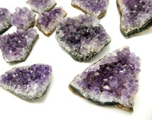 Purple Amethyst Cluster - Natural Raw Purple Amethyst Cluster - 1, 5, or 10 pieces (RK11B5)