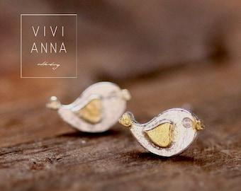 925 sterling silver stud earrings bird  e280