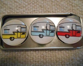 Vintage Shasta Trailers Fridge Magnets