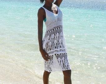 Handmade crochet dress see trough 02. Bikini cover up