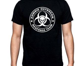Zombie Outbreak Response Team  Men's T Shirt Black all sizes XS-3XL